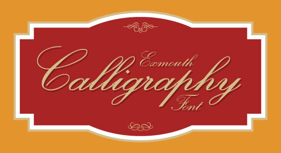 Exmouth Best Beautiful Free Calligraphy Font 2013 Top 20 Best & Beautiful Free Calligraphy Fonts For Your 2013 Projects