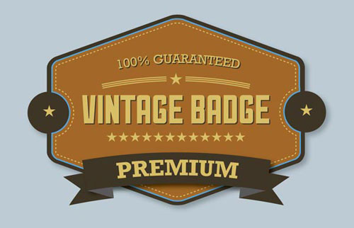Premium-Vintage-Badge-Easy-Illustrator-CS6-Tutorial-For-Beginners