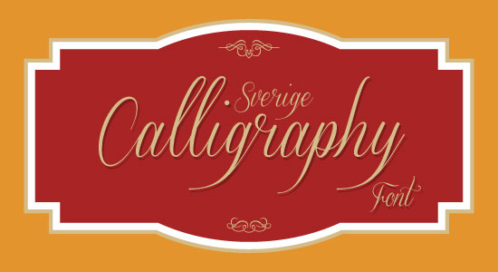 Sverige Script Beautiful Free Calligraphy Font Top 20 Best & Beautiful Free Calligraphy Fonts For Your 2013 Projects