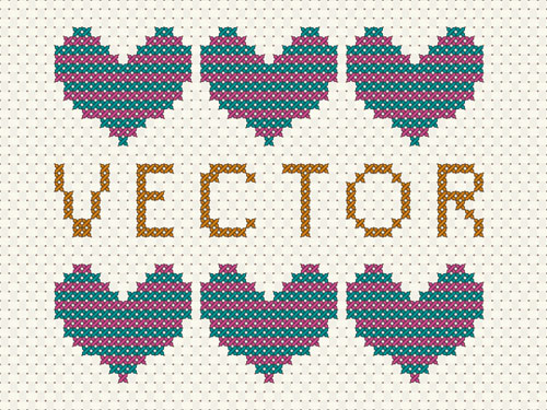 Vector-cross-stitch-effect-easy-illustrator-cs6-tutorial