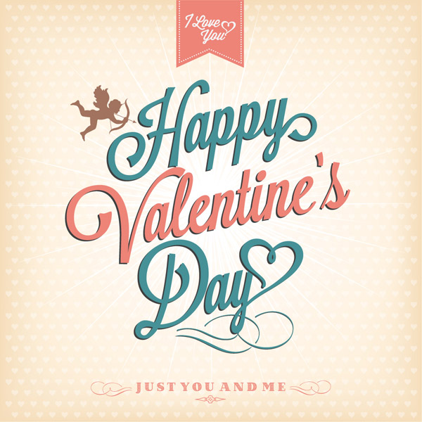 Vintage-happy-valentines-day-card-typography-design