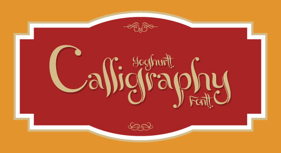 Yoghurt Best Beautiful Free Calligraphy Font 2013 Top 20 Best & Beautiful Free Calligraphy Fonts For Your 2013 Projects