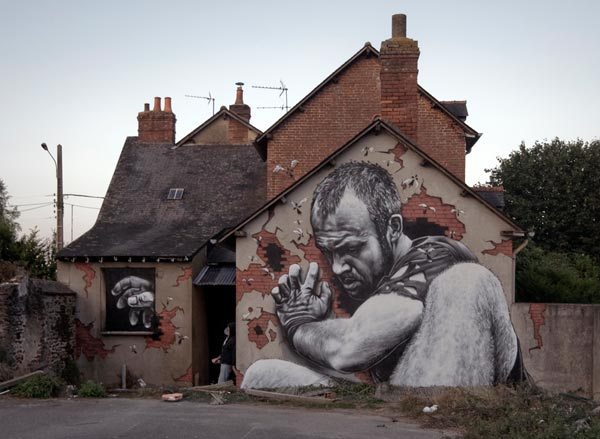 Beautiful 3D Street Art by MTO Rennes France 30+ Awe Inspiring Graffiti Street Art Paintings From Around The World