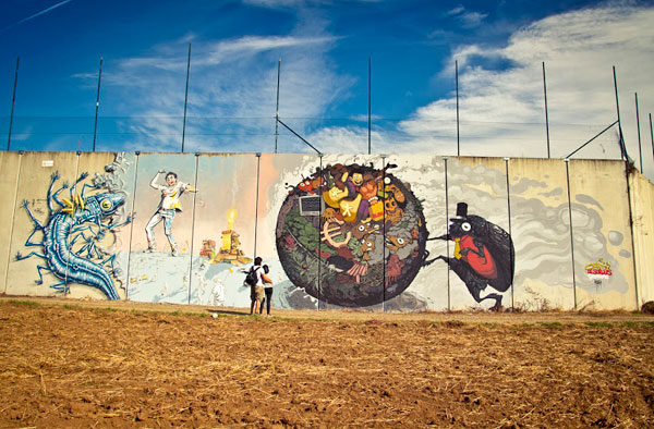 Beautiful DEL NAS MURAL DESORDES 30+ Awe Inspiring Graffiti Street Art Paintings From Around The World