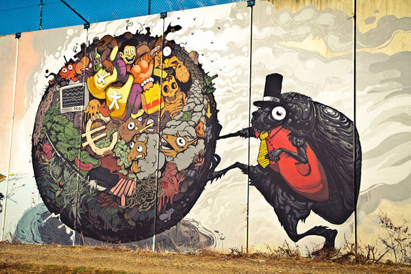 Beautiful DEL NAS MURAL DESORDES2 30+ Awe Inspiring Graffiti Street Art Paintings From Around The World