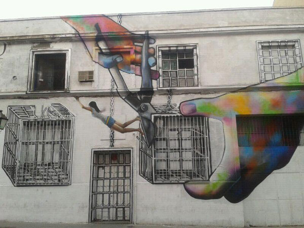 Creative Street Art by Diana Guido in Madrid Spain 30+ Awe Inspiring Graffiti Street Art Paintings From Around The World