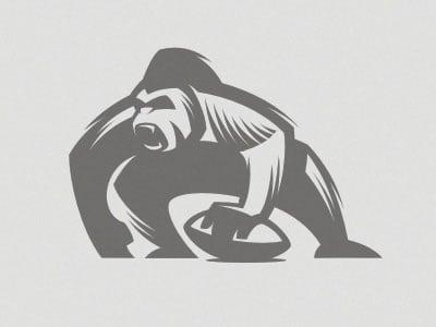 Gorilla-mascot-rugby-team-logo-design