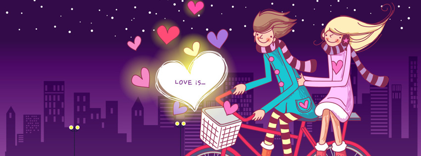 Foto De Capa Para Facebook Feminino Evangelico: Happy Valentine's Day Heart, Love & Roses Facebook Cover