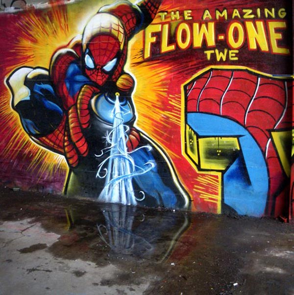 Spiderman street art by Twe crew 30+ Awe Inspiring Graffiti Street Art Paintings From Around The World