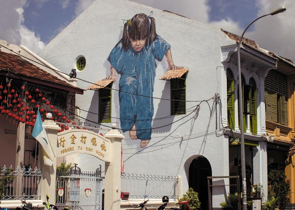 Street Art by Ernest Zacharevic in Penang Malaysia 3 30+ Awe Inspiring Graffiti Street Art Paintings From Around The World