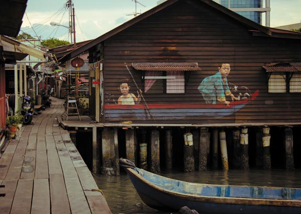 Street Art by Ernest Zacharevic in Penang Malaysia 5 30+ Awe Inspiring Graffiti Street Art Paintings From Around The World