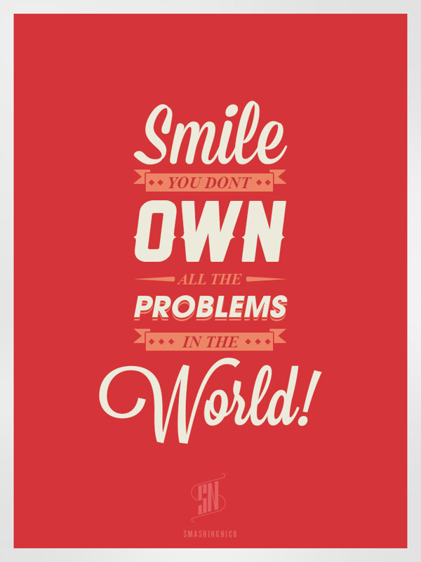 Happy-Life-Typography-Design-Posters