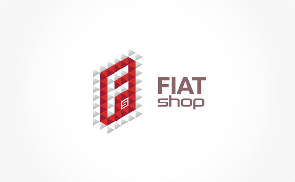 FiatShop-romanian-Car-Part-Selling-Company-Logo-&-Busienss-Card-Design