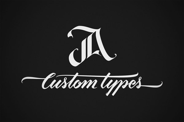 JA-Custom-Types-logo-&-business-card-design