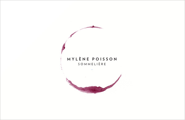 Mylene-Poisson-sommelier-business-card-design-&-Stationery-project