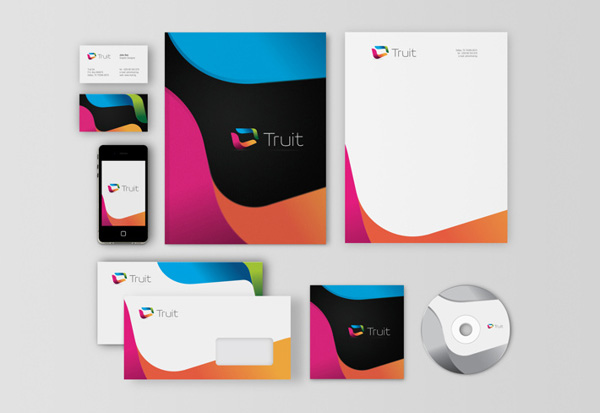 20 beautiful business card design brand identity projects for truit beautiful business card design 2013 4 altavistaventures Gallery