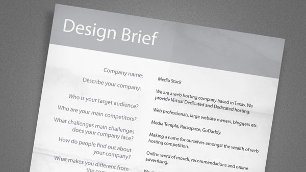 design brief Introduce Your Graphic Design With Killer Tips