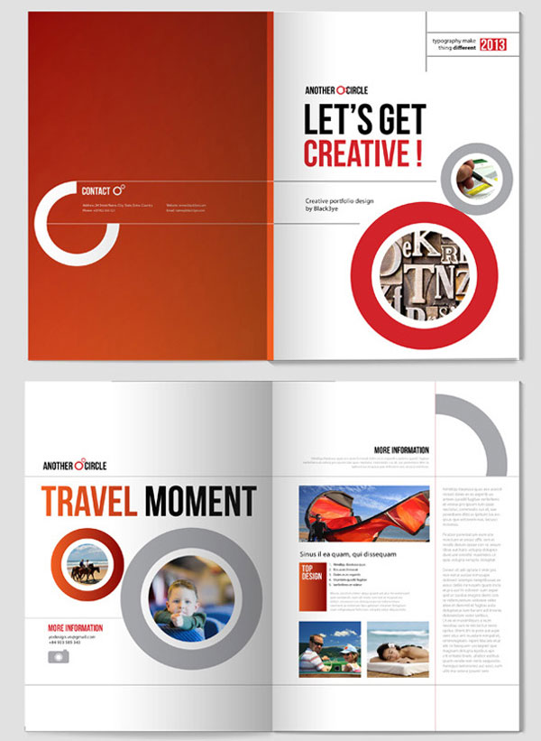 Beautiful red bi fold brochure design inspiration all design for Creative brochure templates free