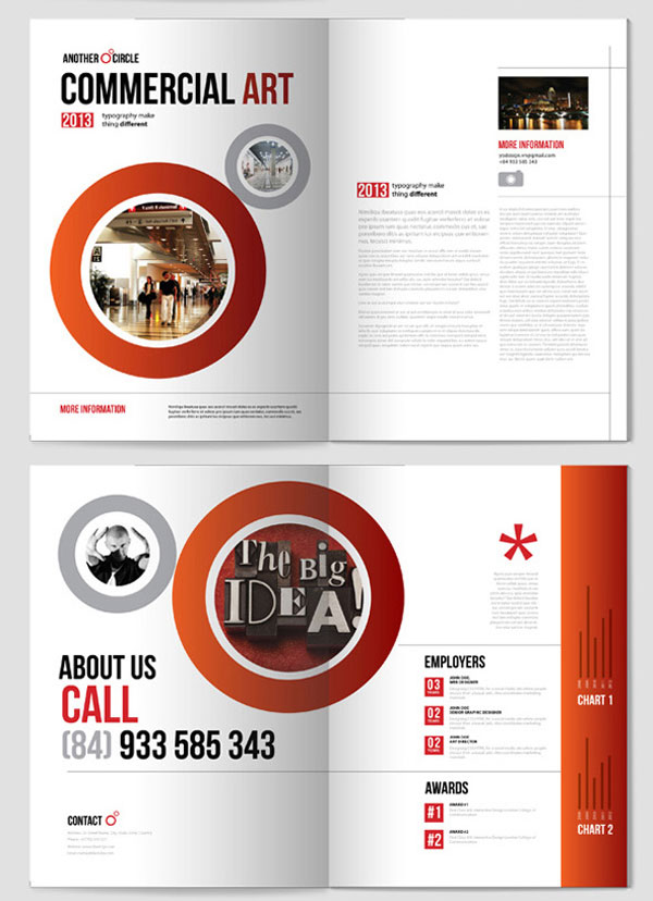 Indesign templates brochure for Adobe brochure templates
