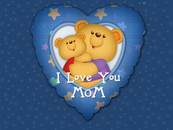 Cute Happy Mothers Day 2013 bears HD wallpaper Happy Mothers Day 2013 Pictures, Card Ideas, HD Wallpapers, Quotes & Facebook Covers