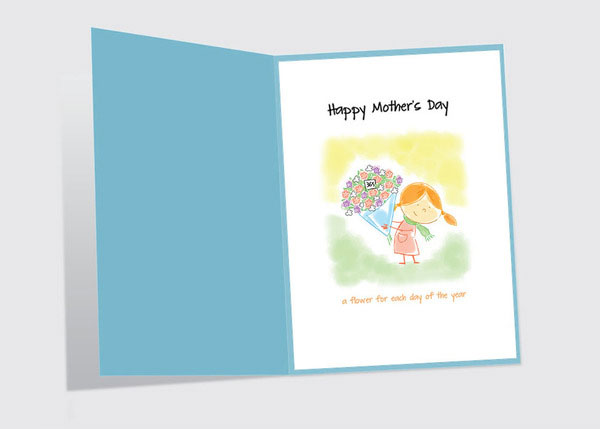Happy mothers day cute card design 2 Happy Mothers Day 2013 Pictures, Card Ideas, HD Wallpapers, Quotes & Facebook Covers