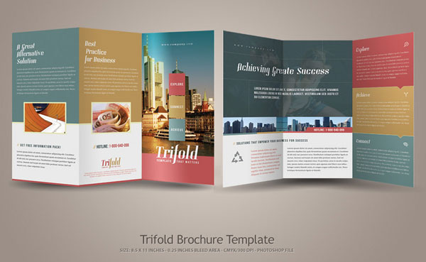 tri fold brochure template download 2 - 20 simple yet beautiful brochure design inspiration