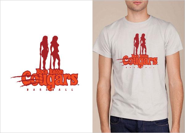 Boca-Raton-Cougars-logo-design-t-shirt