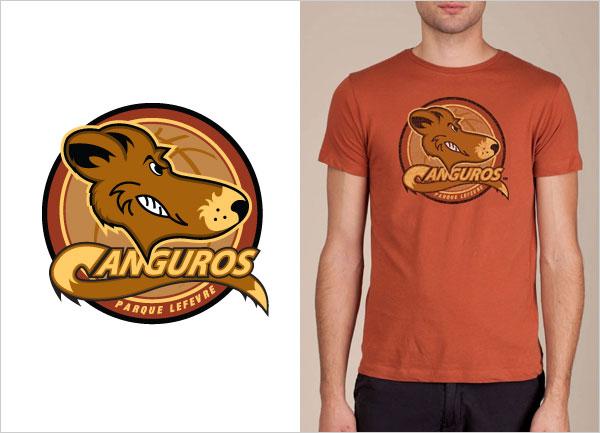 Canguros-De-Parque-Lefevre-logo-t-shirt