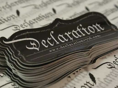 Declaration-sticker