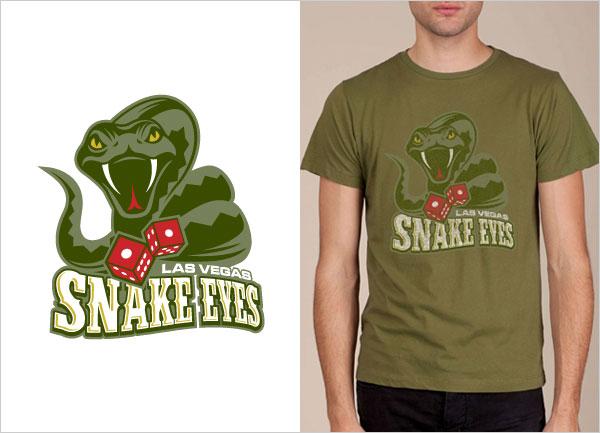 Las-Vegas-Snake-Eyes-logo-t-shirt