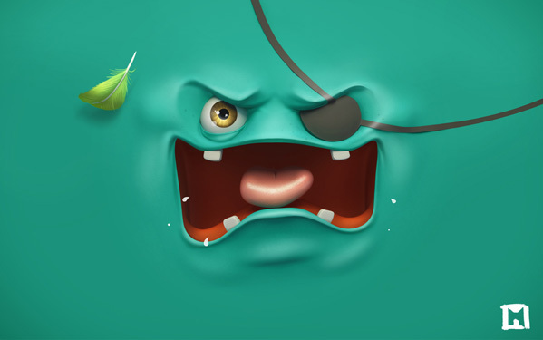 Mad-Face-Sea-green-HD-Wallpaper-for-Desktop