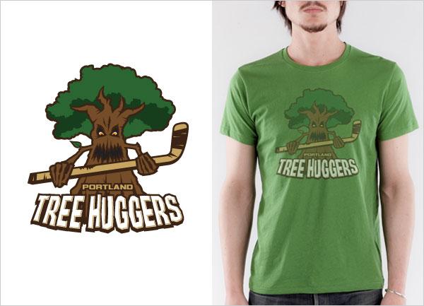 Portland-Tree-Huggers-logo-t-shirt