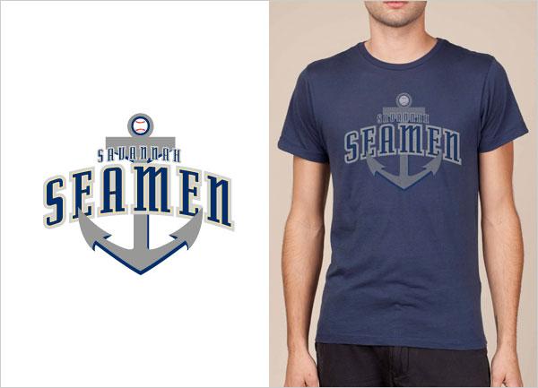 Savannah-Seamen-logo-t-shirt