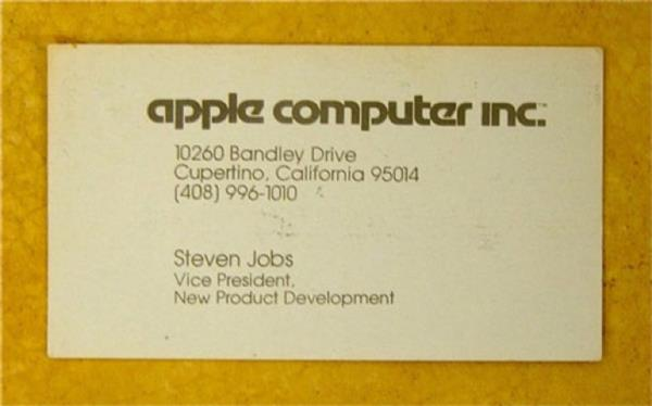 A must see 20 business cards of famous people steve jobs business card colourmoves