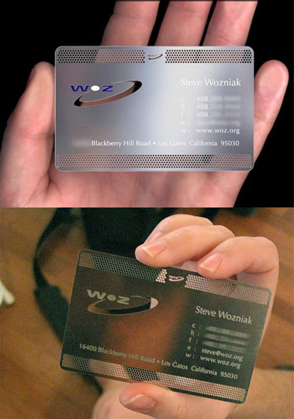 A must see 20 business cards of famous people steve wozniak business cards flashek Choice Image