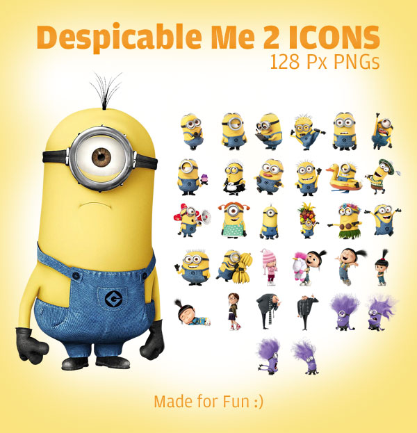 subscribe us for more free icons free psd and free vectors: www.designbolts.com/2013/06/29/despicable-me-2-minion-icons-128-px...