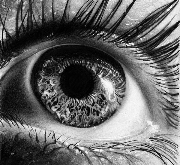 Eye-macro-Realistic-Pencil-Drawing