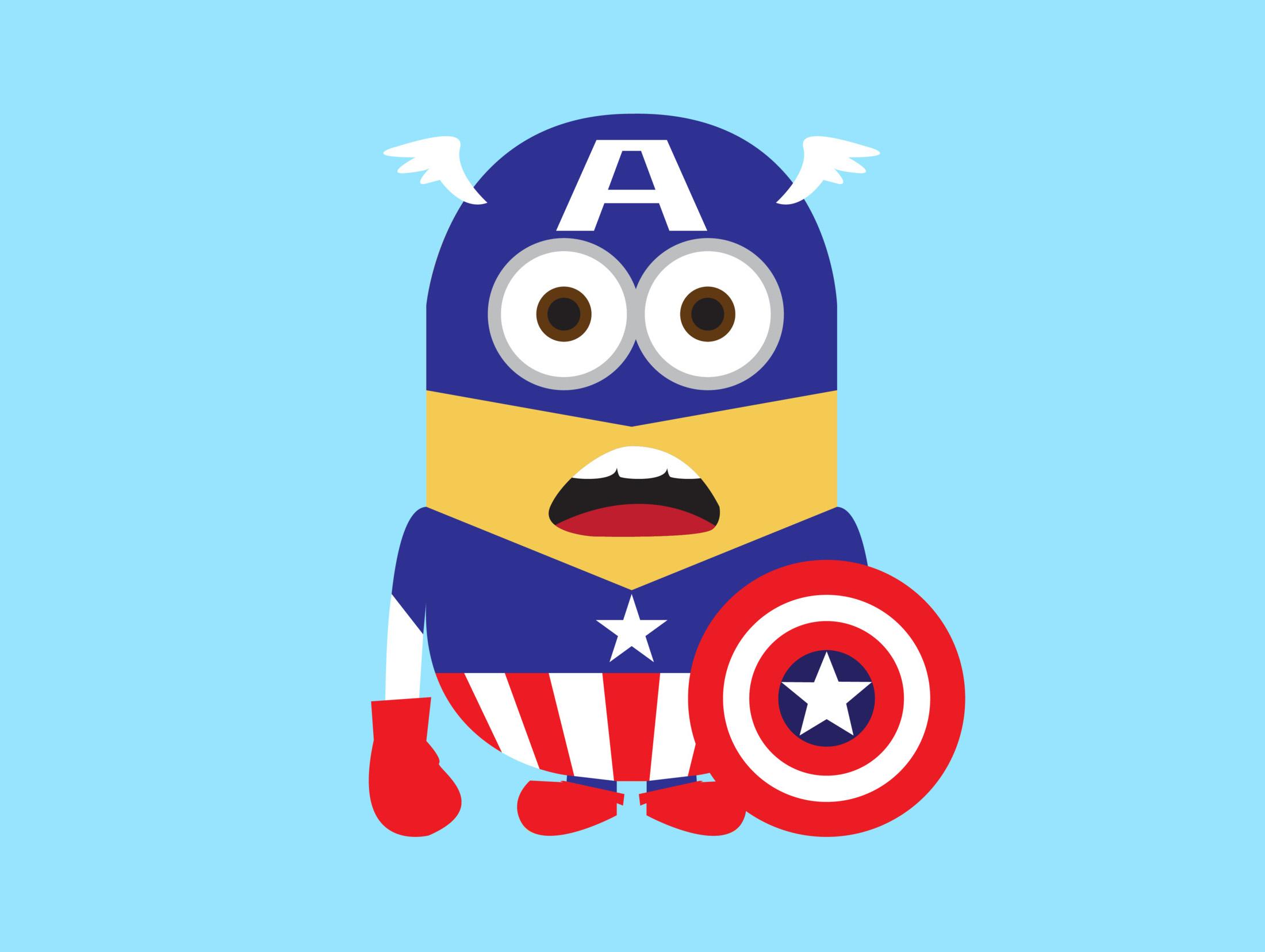 Spider Minion Wallpaper Minion Captain America 2d