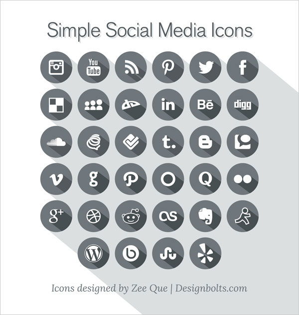 Free-Long-Shadow-Simple-Social-Media-Icons-2013