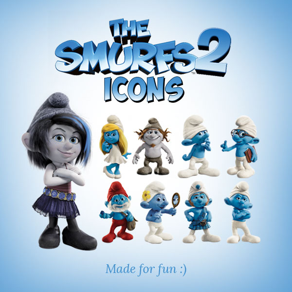 The-Smurfs-2-Characters-Icons