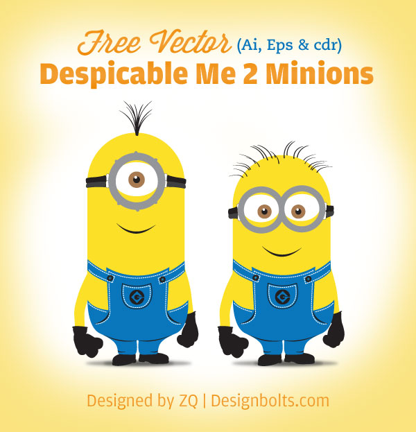 despicable me 2 minions Vector Ai Eps Despicable Me 2 Minions Vector (Ai, Eps, Cdr) & High Res PNGs