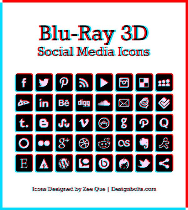 Blu-Ray-3D-Social-Media-Icons