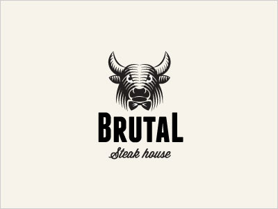 Bull-Brutal-Steak-House-Logo-design