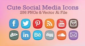 Free-Cute-Social-Media-Icons-256-PNGs-&-Vector-Ai-File