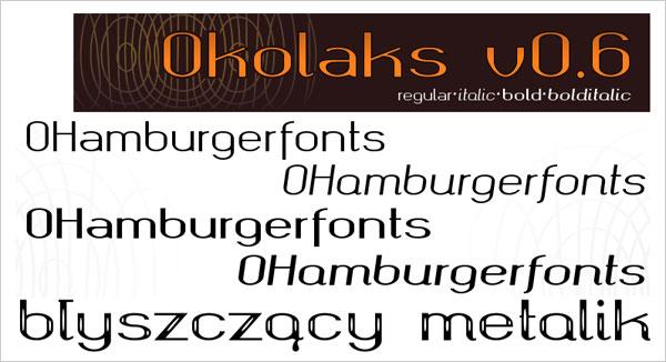 Okolaks-Free-Bold-Italic-Bold-Metalic