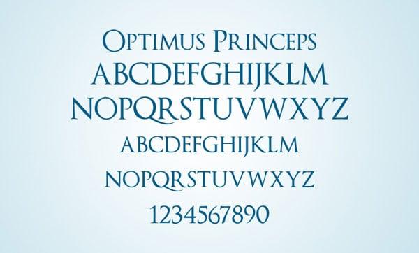 Optimus-Princeps-Elegant-Free-Serif-Font