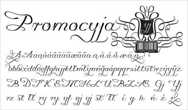 Promocyja-Unique-Script-Font