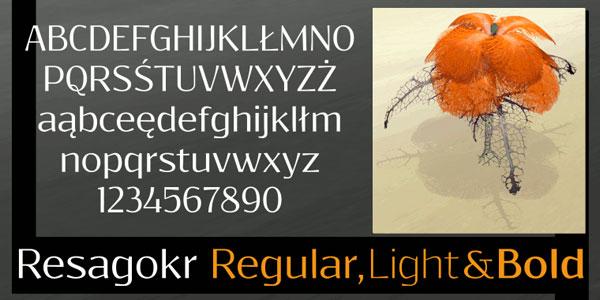 Resagokr-Regular-Light-Bold-Font