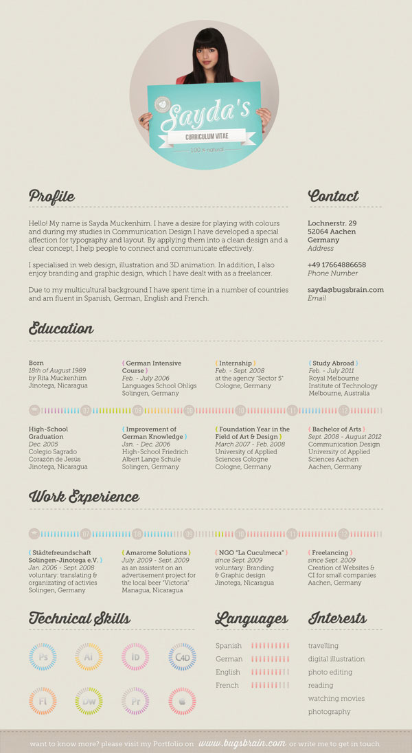 10 interesting simple resume examples you would love to notice - Simple resume design ...