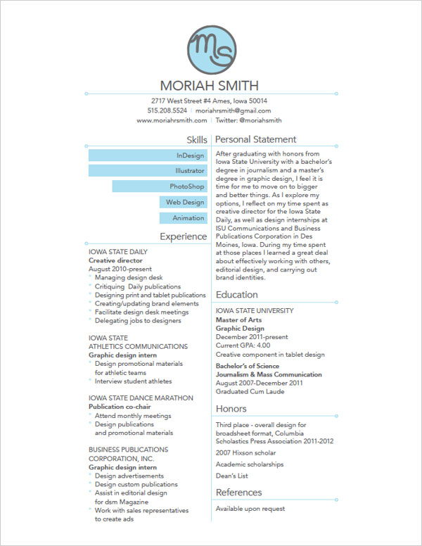 Simple Resume Design  CityEsporaCo